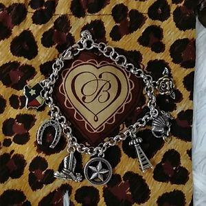 "Brighton silver ""Texas"" charm bracelet"